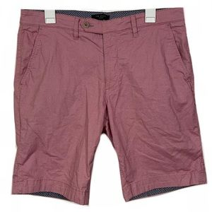 Ted Baker Pink Flat Front Casual Shorts